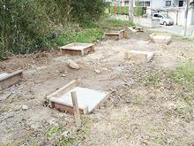 太宰府市老人ホーム コンテナ塗装工事 基礎完了