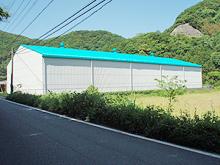 長崎県対馬市 福岡魚函株式会社様 工場塗装 施工後全景