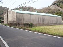 長崎県対馬市 福岡魚函株式会社様 工場塗装 施工前全景