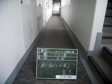 Wマンション 階段床シート防水屋上通気緩衝工事 廊下施工後