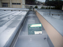 筑紫台高等学校 食堂棟屋上防水工事 施工後1