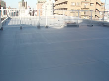 ビル屋上防水工事 施工後