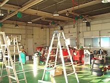 工場内壁 塗装工事 施工前