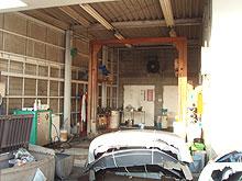 洗車場壁 塗装工事 施工前