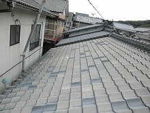 長崎県 壱岐市 屋根塗装施工前