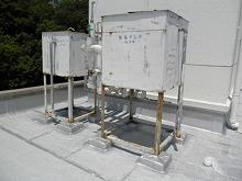 太宰府市 サンホーム 貯水タンク塗装 施工前