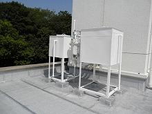太宰府市 サンホーム 貯水タンク塗装 施工後