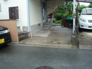 筑紫野市 O様邸 フェンス取り付け工事 施工前