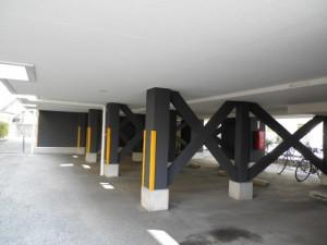 春日市 パンシオンヴィラ 駐車場 塗装工事 施工後