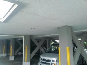 春日市 パンシオンヴィラ 駐車場 塗装工事 施工前