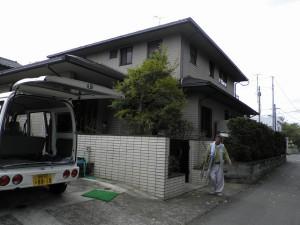 福岡県 小郡市 K様邸 外壁 屋根 塗装工事 施工前