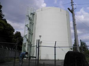 筑紫野市 配水池 高区塗装工事 施工前