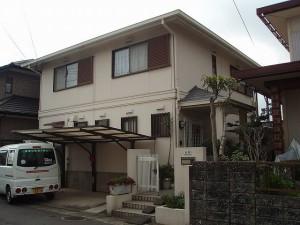 福岡市 H様邸 外壁屋根塗装工事 施工前