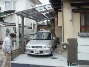 福岡県 甘木市 T様邸 車庫工事 完了