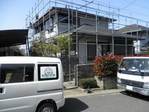 福岡市東区 H様邸 外壁 屋根 塗装工事 施工前