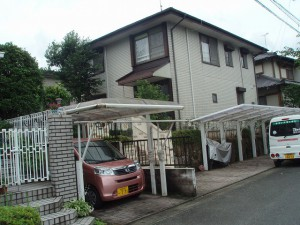 筑紫野市 K様邸 外壁屋根塗装工事 施工前
