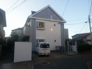 福岡市博多区 レオパレス アパート 外壁屋根塗装工事 施工後