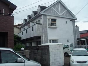 福岡市博多区 レオパレス アパート 外壁屋根塗装工事 施工前