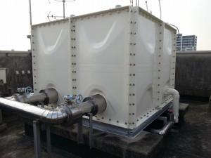 久留米市 東町公園ビル 受水槽塗装工事 完了