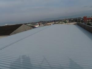 福岡県 大川市 丸洋物産 屋根塗装工事 完了