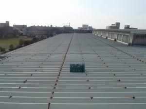 福岡県 大川市 コーワ倉庫 屋根塗装工事 施工前