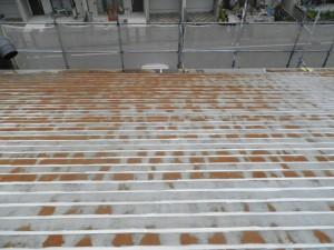 春日市 おおきに食堂 屋根塗装工事 施工前