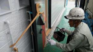 福岡市 南区 ドミール老司 玄関ドア塗装工