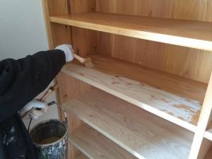 小郡市 馬市公民館 木部塗装工事