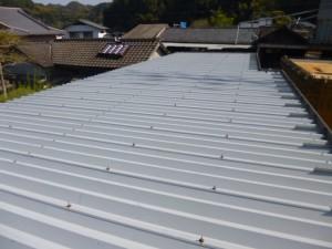 熊本県 光林寺 折半屋根 塗装工事 施工前