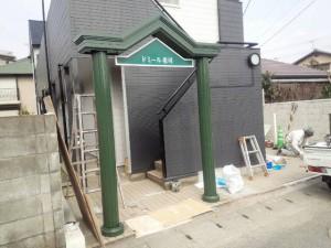 福岡市 南区 ドミール老司 門扉 塗装工事 完了
