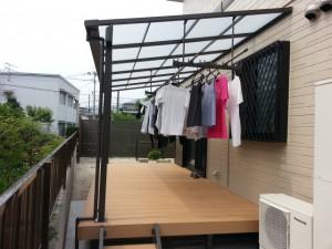 筑紫野市 N様邸 テラス取付け工事 完了