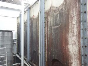 太宰府市 サンホーム太宰府 サンケア太宰府 受水槽塗装工事 施工前