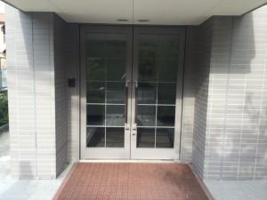 筑紫野市 キリスト教会 玄関ドア 塗装工事 施工前