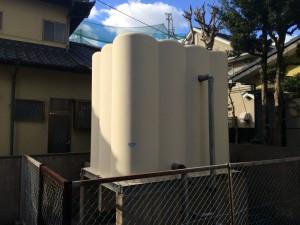 福岡市 城西レジデンス 受水槽 塗装工事 施工前