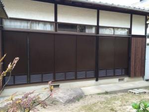 大野城市 雨戸 塗装工事 完成