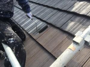 小郡市 田中様 社屋 屋根 塗装工事 下塗り施工中