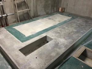 太宰府市 太宰府市役所 機械室床 塗装工事 施工前