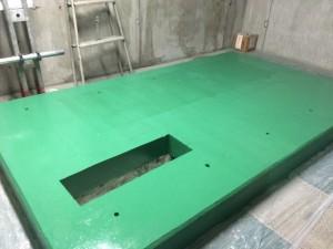 太宰府市 太宰府市役所 機械室床 塗装工事 中塗り完了