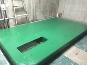 太宰府市 太宰府市役所 機械室床 塗装工事 完了