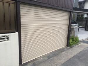 筑紫野市 シャッター 塗装工事 完了