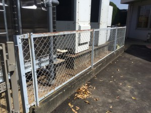 筑紫野市 美しが丘幼稚園 フェンス 塗装工事 施工前