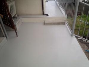 太宰府市 I様邸 床 塗装工事 完了