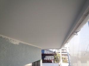 佐賀県 中田様邸 軒天塗装 完了