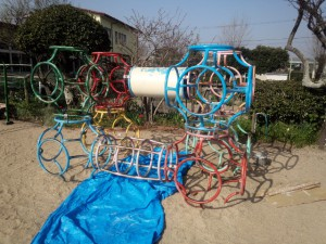 太宰府市 ちいさこべ幼稚園 遊具 塗装工事 施工前