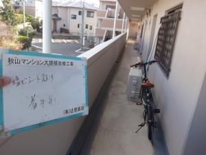 福岡市 東区 秋山マンション 共用通路 防水工事 施工前