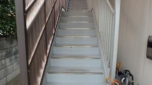 福岡市 博多区 山広商会 階段塗装工事 施工前