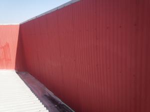 福岡市 博多区 STS 金属壁 塗装工事 下塗り完了