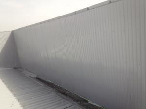 福岡市 博多区 STS 金属壁 塗装工事 中塗り完了