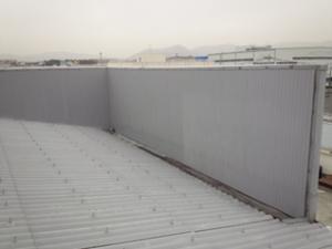福岡市 博多区 STS 金属壁 塗装工事 上塗り完了