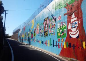 太宰府市 太宰府東小傍 擁壁塗装 お手伝い 完成